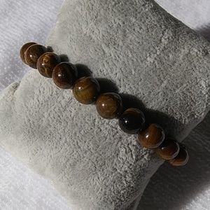 Jewelry - 8mm natural stone tiger's eye bracelet